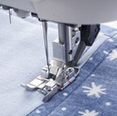 Sewing machine foot and fabric