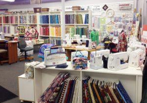Sewtime retail store interior