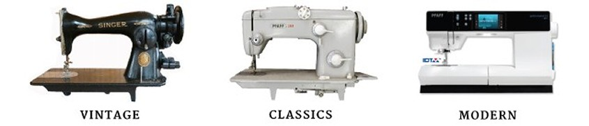 Sewing machines through the years